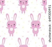 cute seamless pattern with...   Shutterstock .eps vector #649300951