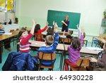 happy children group  in school ... | Shutterstock . vector #64930228
