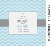 baby shower invitation card... | Shutterstock .eps vector #649302919