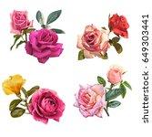 illustration of beautiful... | Shutterstock . vector #649303441