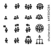people icon work group team... | Shutterstock .eps vector #649304284