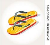 flip flops shoes footwear... | Shutterstock .eps vector #649304491