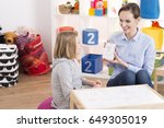child counselor showing... | Shutterstock . vector #649305019