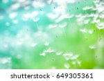 dandelion seeds fly in the wind ... | Shutterstock . vector #649305361