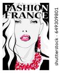 portrait of a fashion model  ...   Shutterstock .eps vector #649309801