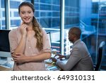 portrait of a confident... | Shutterstock . vector #649310131