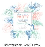 vector illustration tropical... | Shutterstock .eps vector #649314967