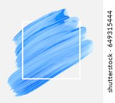 logo brush painted acrylic... | Shutterstock .eps vector #649315444