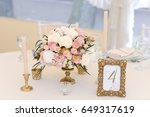 guest numbered table with with...   Shutterstock . vector #649317619