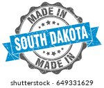 made in south dakota round seal | Shutterstock .eps vector #649331629