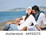 happy young couple in white... | Shutterstock . vector #64933273