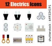flat design electrics icon set...