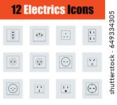 flat design electrics icon set...