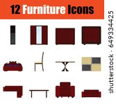 flat design home furniture icon ...