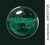 sphere of poison. game icon of... | Shutterstock .eps vector #649337725