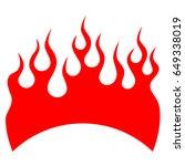 flame tattoo tribal vector... | Shutterstock .eps vector #649338019