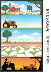 5 farm landscapes.  | Shutterstock .eps vector #64934158