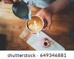 top view of professional... | Shutterstock . vector #649346881