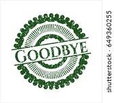 green goodbye rubber grunge...   Shutterstock .eps vector #649360255