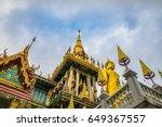 the beautiful golden buddha on... | Shutterstock . vector #649367557