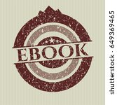 red ebook rubber stamp with...   Shutterstock .eps vector #649369465