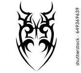 tribal tattoo art designs.... | Shutterstock .eps vector #649369639