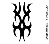 tattoo tribal vector design.... | Shutterstock .eps vector #649369654