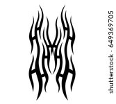 tribal tattoo art designs.... | Shutterstock .eps vector #649369705