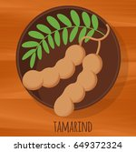 tamarind flat design vector... | Shutterstock .eps vector #649372324
