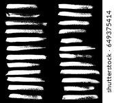 ink vector brush strokes set.... | Shutterstock .eps vector #649375414