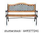 park bench isolated on white...   Shutterstock . vector #649377241