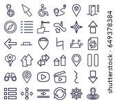 navigation icons set. set of 36 ...   Shutterstock .eps vector #649378384