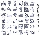 wireless icons set. set of 36... | Shutterstock .eps vector #649378669