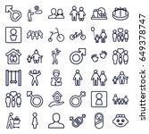 boy icons set. set of 36 boy... | Shutterstock .eps vector #649378747