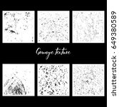 six grunge textures | Shutterstock .eps vector #649380589