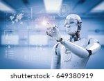 3d rendering robot working with ... | Shutterstock . vector #649380919
