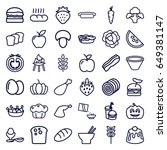 nutrition icons set. set of 36... | Shutterstock .eps vector #649381147