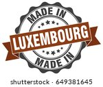 made in luxembourg round seal | Shutterstock .eps vector #649381645