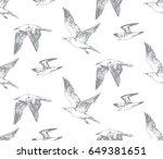 hand drawn seamless pattern... | Shutterstock .eps vector #649381651