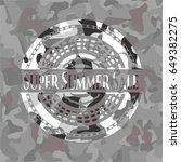 super summer sale on grey... | Shutterstock .eps vector #649382275