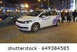 brussels  belgium. january 25 ... | Shutterstock . vector #649384585
