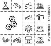 machinery icon. set of 13... | Shutterstock .eps vector #649385014
