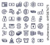 dollar icons set. set of 36... | Shutterstock .eps vector #649387675