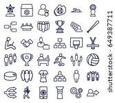 team icons set. set of 36 team... | Shutterstock .eps vector #649387711