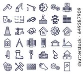 construction icons set. set of... | Shutterstock .eps vector #649387909
