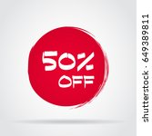 discount offer price label ... | Shutterstock .eps vector #649389811