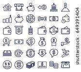 dollar icons set. set of 36...   Shutterstock .eps vector #649391404