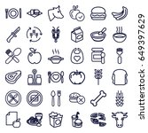 eat icons set. set of 36 eat... | Shutterstock .eps vector #649397629