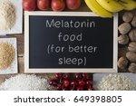 melatonin food | Shutterstock . vector #649398805