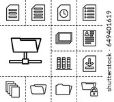 file icon. set of 13 outline... | Shutterstock .eps vector #649401619